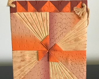 Pinwheel quilt wall plaque in polymer clay
