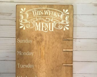Weekly Menu Board