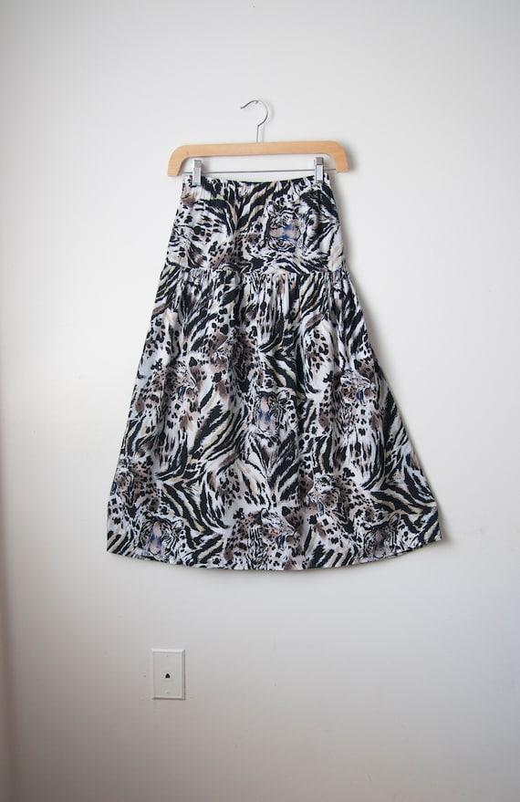 Two piece skirt set // Tiger print // Rayon - image 5