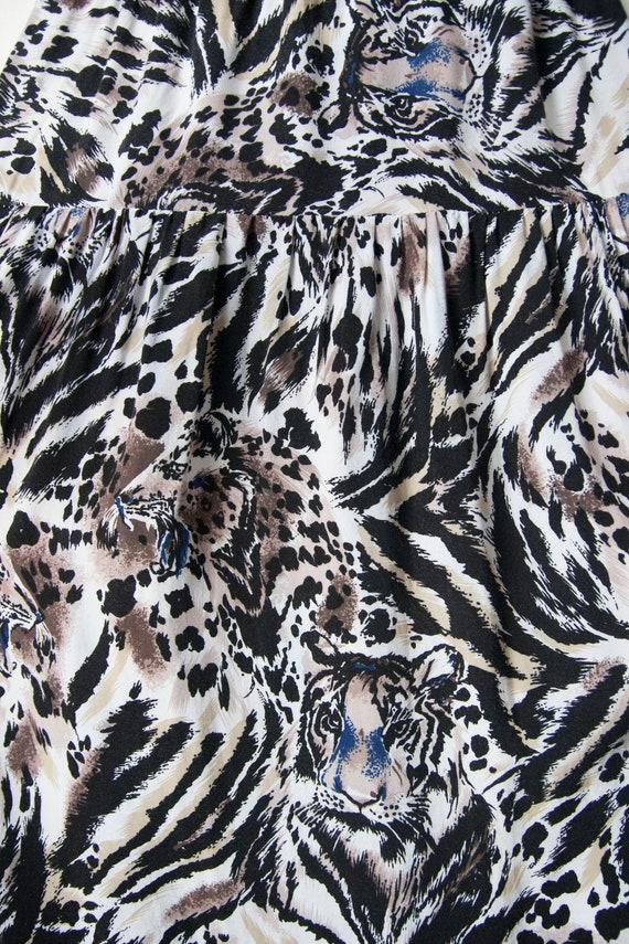 Two piece skirt set // Tiger print // Rayon - image 9