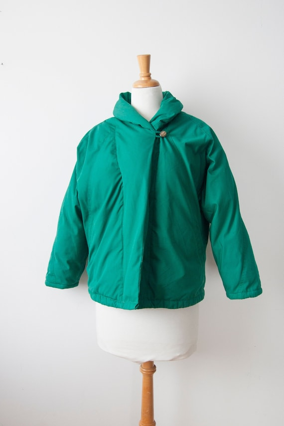 Vintage Green Down Coat | Vintage Puffer Jacket |