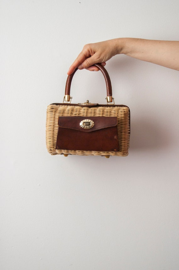 Wicker Purse, Woven Basket Handbag