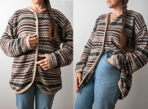 90s Oversized Knit Cardigan