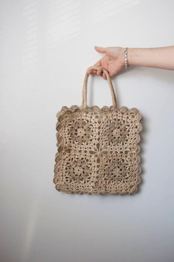 Granny Square Crochet Bag, Boho Tote Bag - image 3
