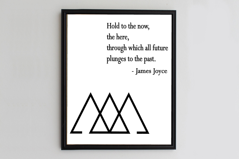 Library Wall Art James Joyce Literary Quotes Literature Etsy