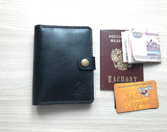 The cover of the purse for documents. Genuine leather. Manual work. Good gift. accommodates passport, documents, money. Durable.