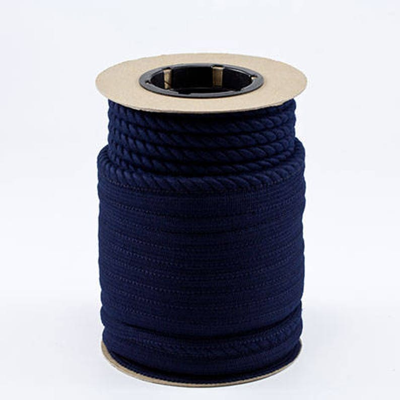 14 Lip Cord from Sunbrella Decorative IndoorOutdoor Trim Twist Cord  Piping #4626 Navy Special Order FULL 25 yard bolt ONLY