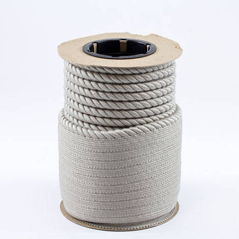 Special Order FULL 25 yard bolt ONLY Decorative IndoorOutdoor Trim Twist Cord  Piping #4630 Cadet Grey 14 Lip Cord from Sunbrella