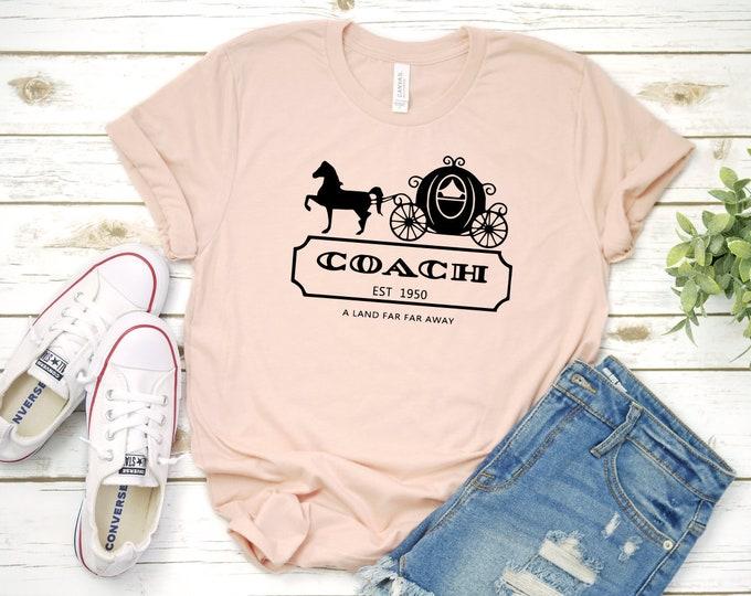 Coach Princess Shirt, Coach Disney Shirt, Disney World, Disney Land, Disney Family Vacation