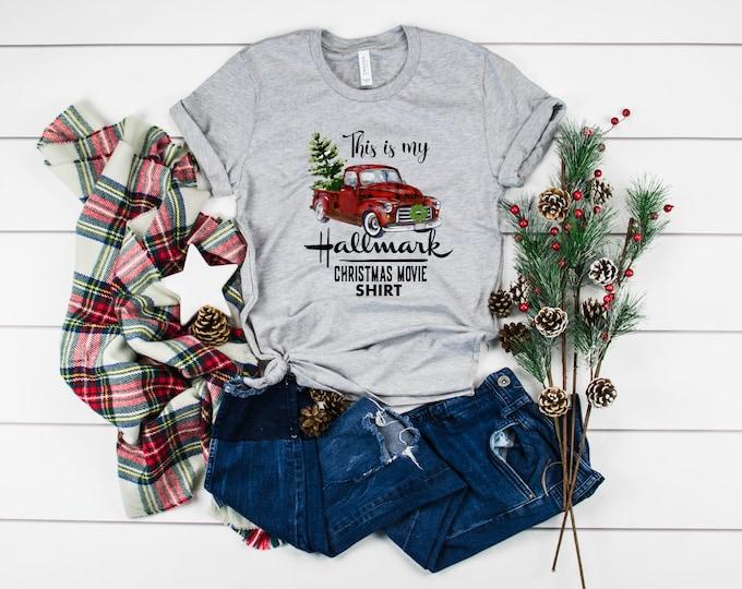 Christmas Movie Shirt, Vintage Truck Christmas Shirt, Women's Graphic Tshirt