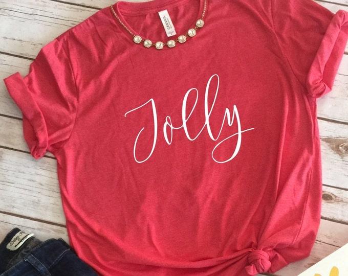 Jolly, Christmas Shirts, Christmas Shirts For Women, Family Christmas Shirts, Christmas Tshirt, Graphic Tee