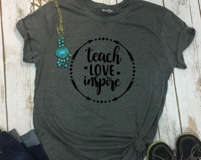 Teach Love Inspire Shit, Cute Teacher Tshirt, Gift For Teacher