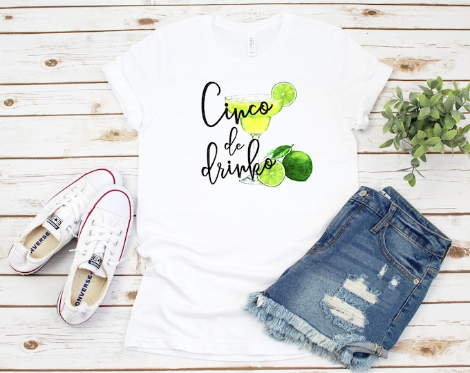 Cinco De Drinko T Shirt, Womens Cinco De Mayo Graphic Tee, Cinco De Drinko Tank