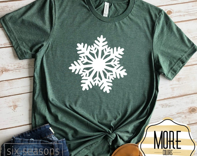 Snowflake, Unisex Short Sleeve Shirt for Women