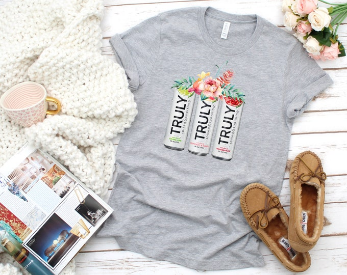 Truly Floral Tshirt, Truly Lover Shirt, Womens Truly Graphic Tee