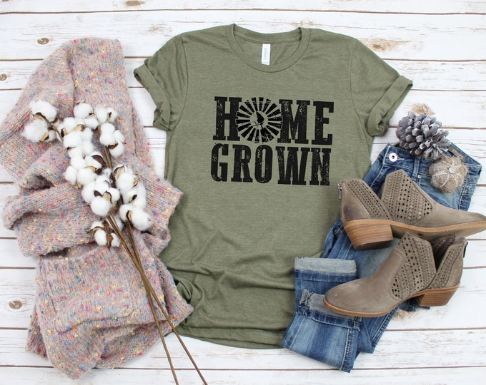 Home Grown, Country Girl Tshirt, Small Town Girl, Womens Graphic Tshirt