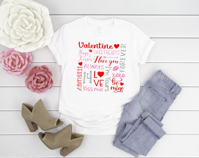 Valentines t-shirt, Womens valentines shirt, valentines shirt, Womens Graphic Tee