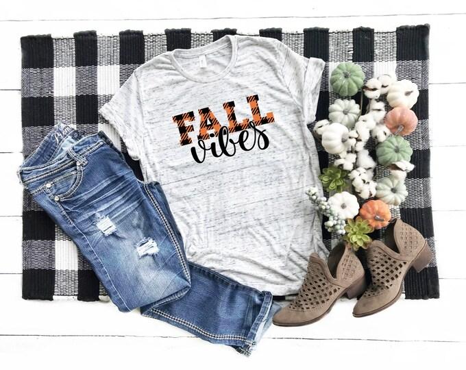 Fall Vibes, Unisex Short Sleeve Shirt for Women