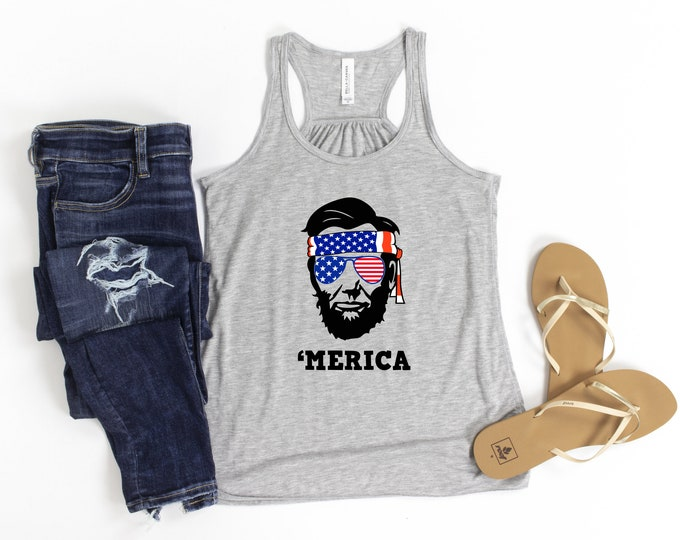 Merica Tank Top, Drinkin like Lincolin, 4th of July Shirt, Patriotic, Independence Day