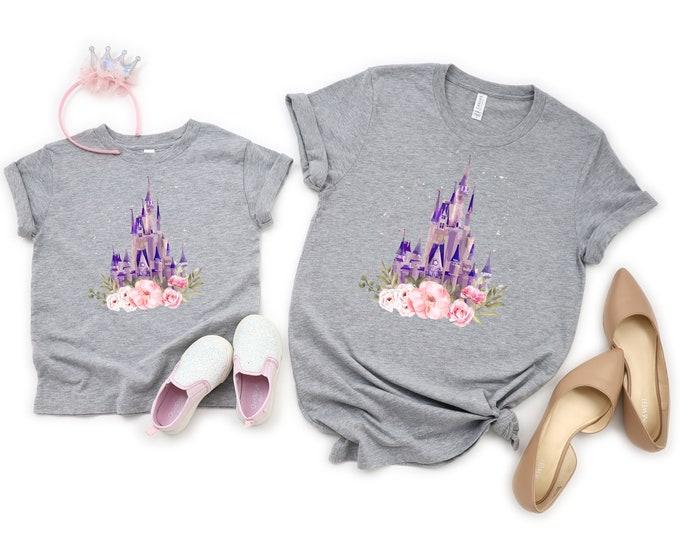 Disney Castle Mommy and Me Tshirt, Princess Shirt, Disney World, Castle Tshirt