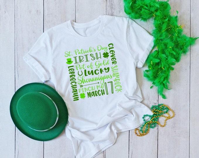 St Patricks Subway Print Shirt, Womens Graphic Tshirt, St Patricks Day Tshirt