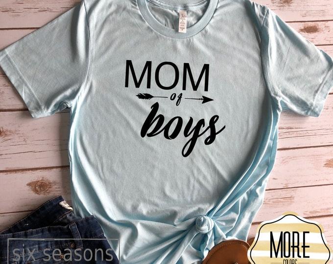 Mom Of Boys Shirt, Mom Shirt, Unisex Bella Canvas Tshirt