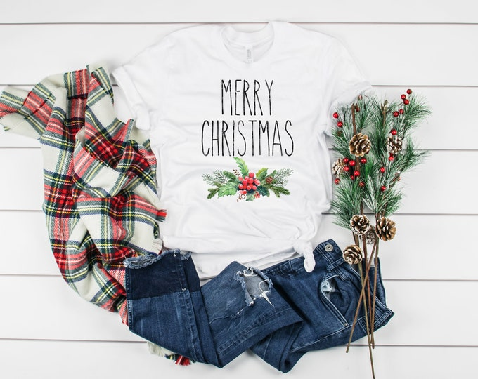 Rae Dunn Inspired Merry Christmas Shirt