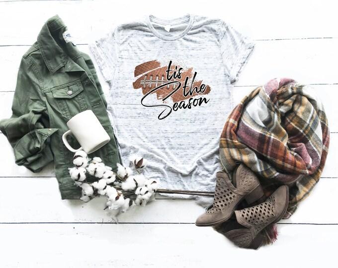 Tis The Seasons Football Shirt, Unisex Short Sleeve Shirt for Women