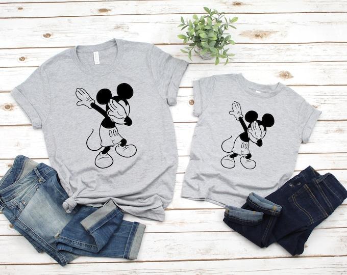 Dabbing Mickey, Disney World Tshirt, Disney Land Shirt, Mickey Mouse Shirt