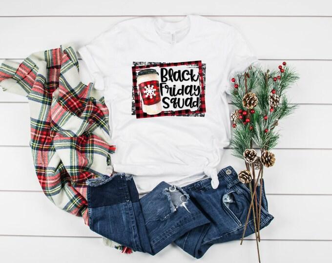 Black Friday Squad, Buffalo Plaid, Buffalo Check, Unisex Short Sleeve Shirt for Women