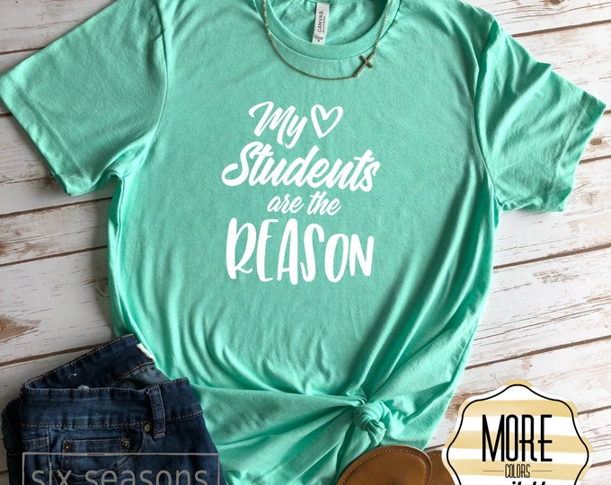 My Students Are The Reason Shirt, Cute Teacher Tshirt, Gift For Teacher
