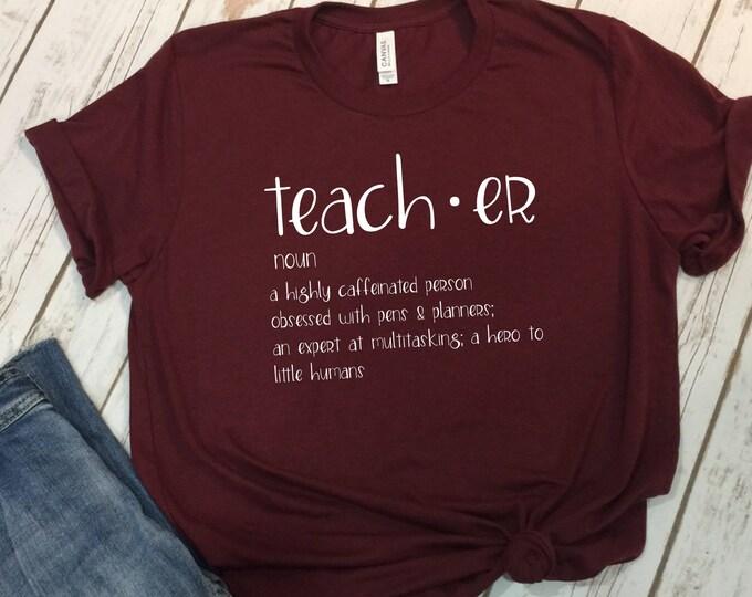 Teacher Shirt, Cute Teacher Tshirt, Gift For Teacher