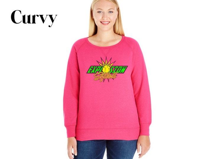 Curvy Crew Neck Sweatshirt