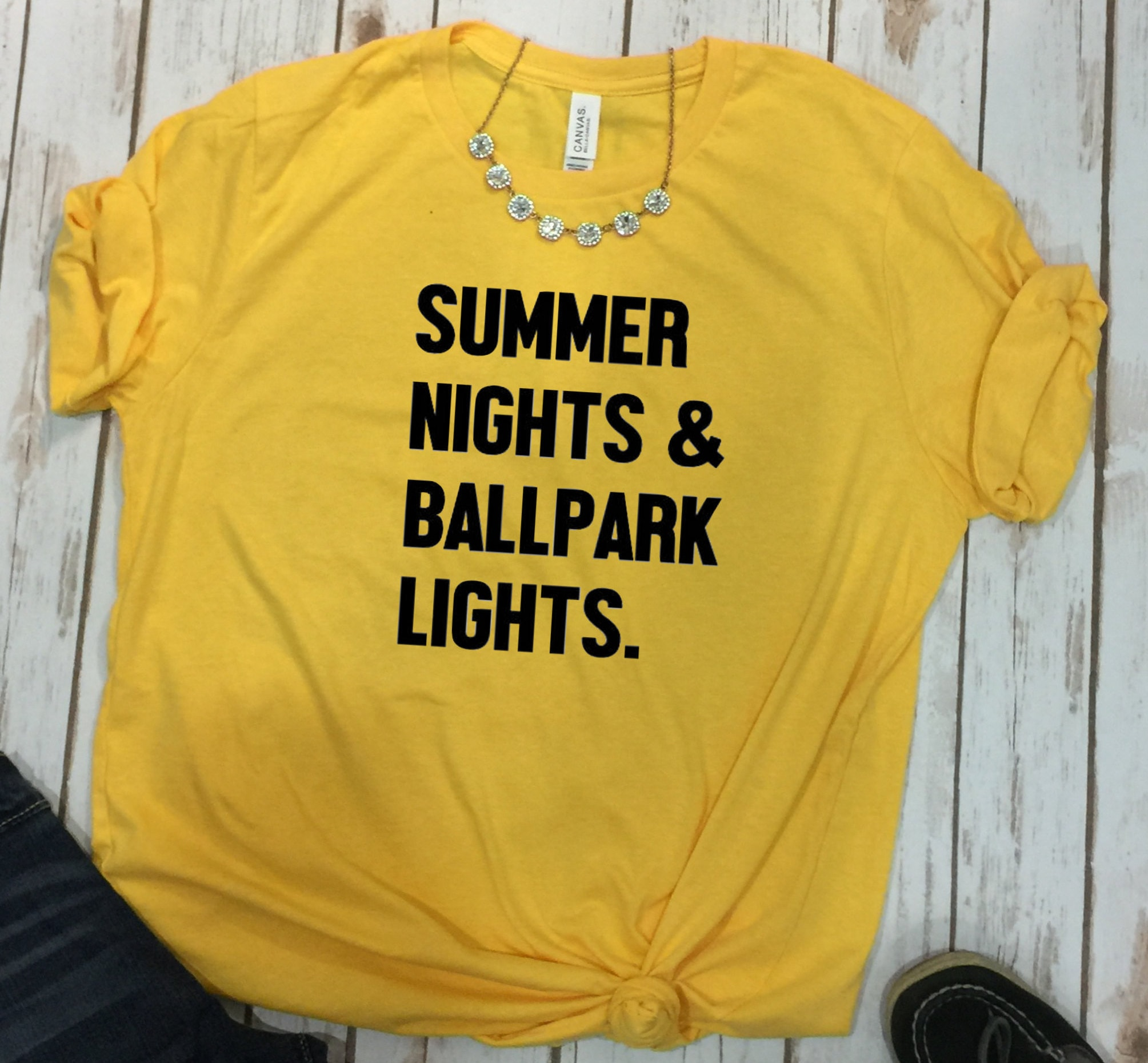 b404db3331c Summer Nights and Ballpark Lights Shirt