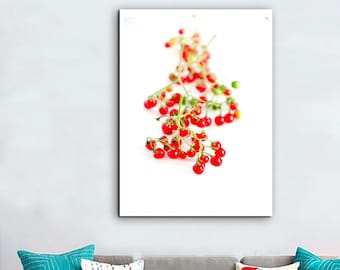 digital photo of a red berry on white background