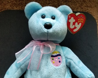 208e2cdd502 TY Beanie Babies Eggs II Easter Bear  Retired 2002 Vintage