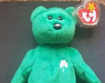 19fba210fba TY Beanie Babies Erin the Bear Irish St. Patrick Retired Vintage