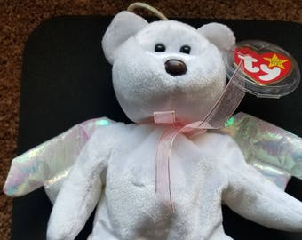4b5059d6cd7 TY Beanie Babies Halo the White Angel Bear  Retired 1999  Vintage