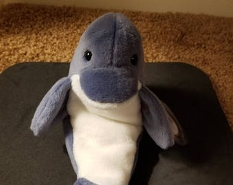 b678b8d3785 TY Beanie Babies Echo the Blueand White Dolphin  Retired 1998  Vintage