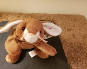 TY Beanie Babies Ears the Brown and White Rabbit  Retired 1998  Vintage 020bc6bd3a0a