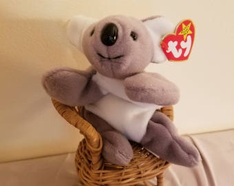 fcacfeda189 TY Beanie Babies Mel the Grey and White Koala Bear  Retired 1999  Vintage