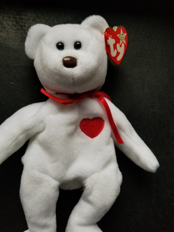 Ty Beanie Babies Rare Valentino Bear Ty Beanie Baby 1993 1994  0120f5d030c