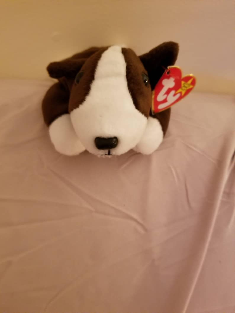 TY Beanie Babies Bruno the Brown and White Bull Terrier Dog  ae2042d6e35e