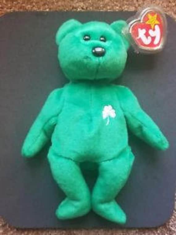 TY Beanie Babies Erin the Bear Irish St. Patrick  3f7dab465b4