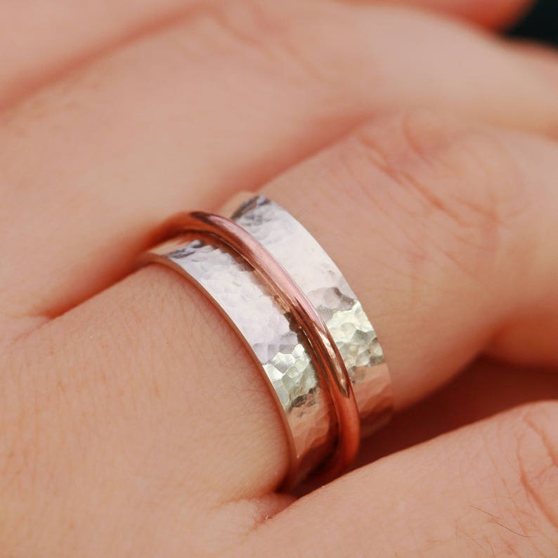 Anxiety Ring Spinning Ring Meditation Ring Sterling Silver Textured Spinner Ring Sterling Silver Worry Ring Textured Ring Gift for Her