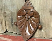 Antique Scroll Leaf Wood Architectural Salvage Accent Piece
