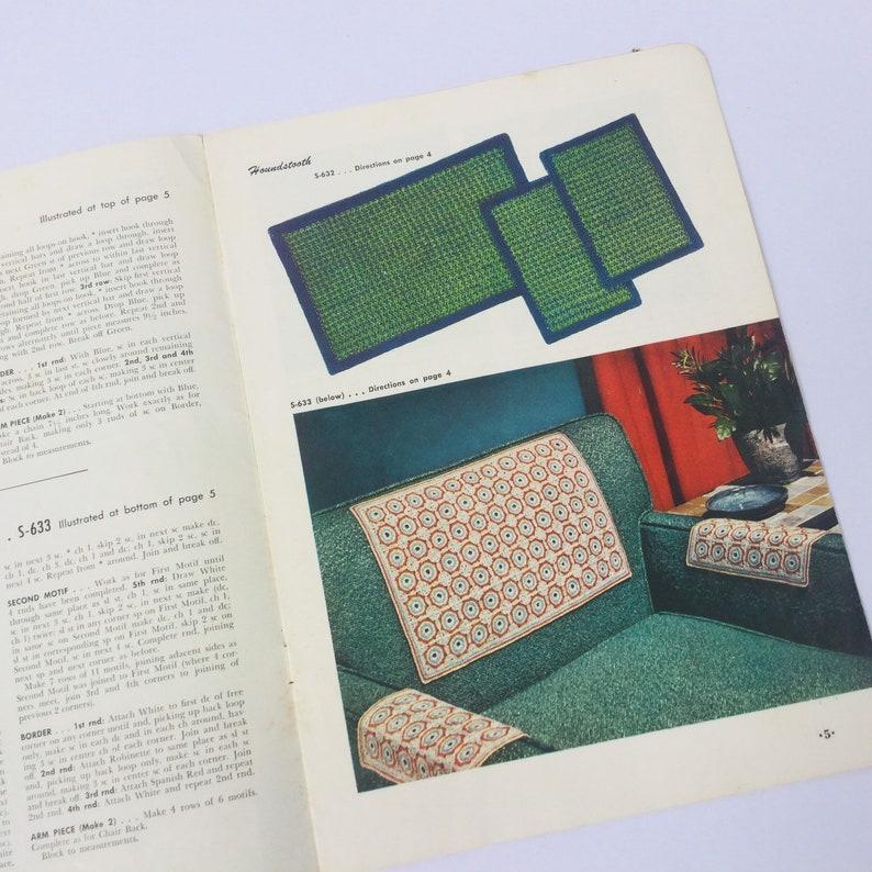Craft Sewing Room Wall Art Decor 1950s Retro Thread Crochet Pattern Booklets Set of 4