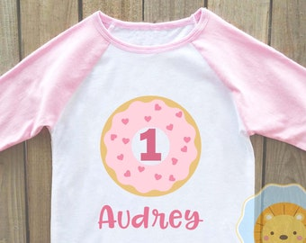 Donut birthday shirt, girls birthday shirt, donut birthday party, donut shirt, donut birthday, donut party, doughnut birthday, donut onesie