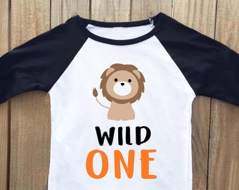 Wild One Shirt Lion First Birthday Safari 1st Jungle Outfit