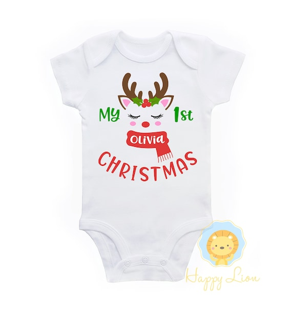 2614bf6f80e6 1st Christmas girl first christmas outfit 1st Christmas | Etsy
